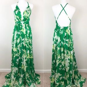 Luxxel Enchantress Tropical Print Gown